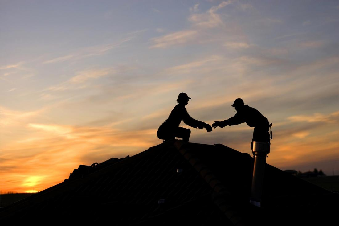 This is a picture of roofers.