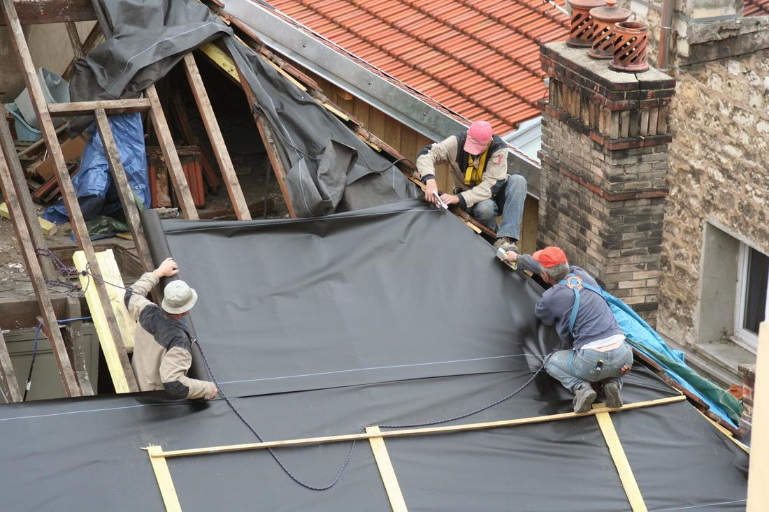 This is a picture of a roofing services.